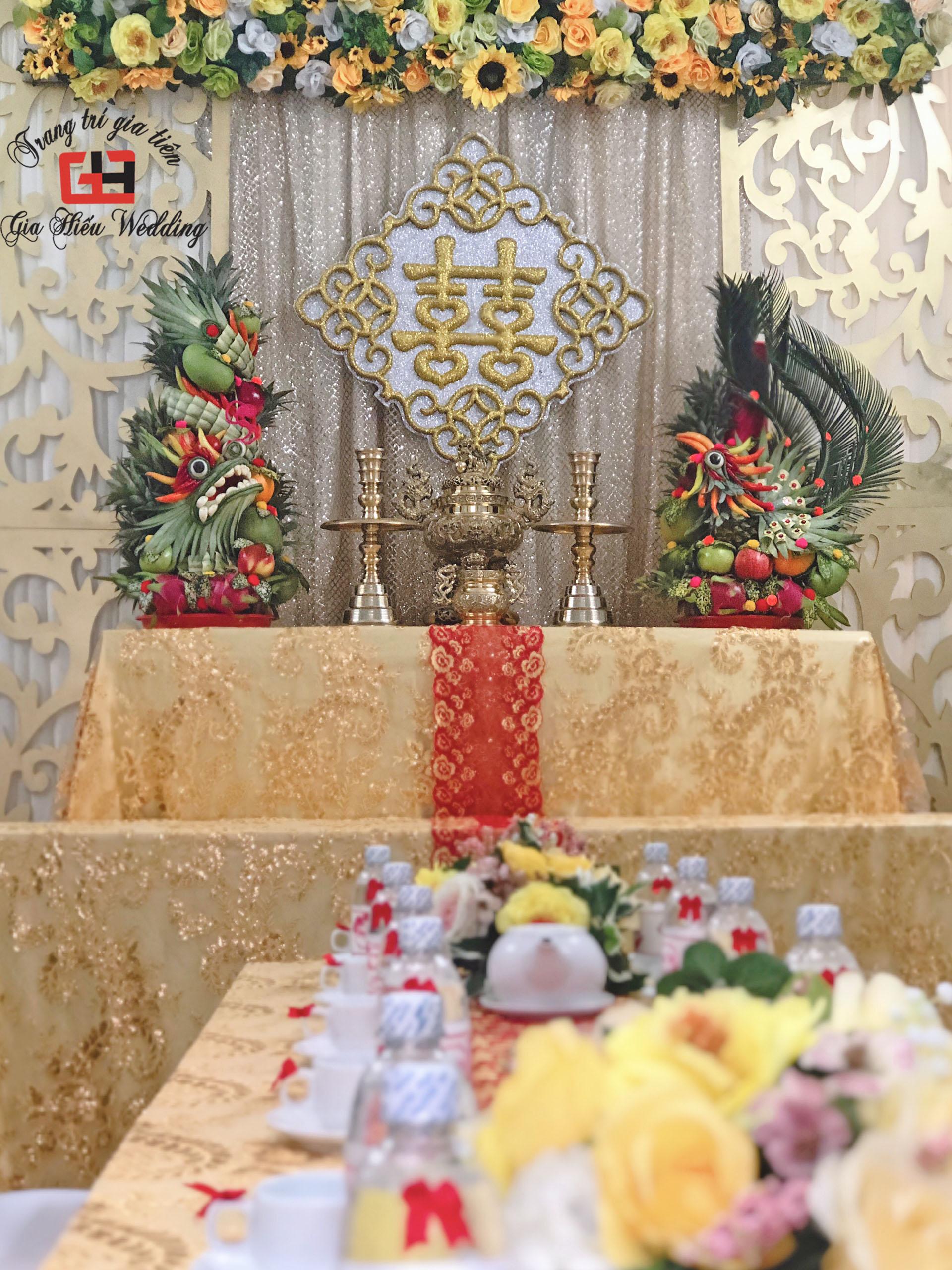 Trang trí lễ Gia tiên tại gia